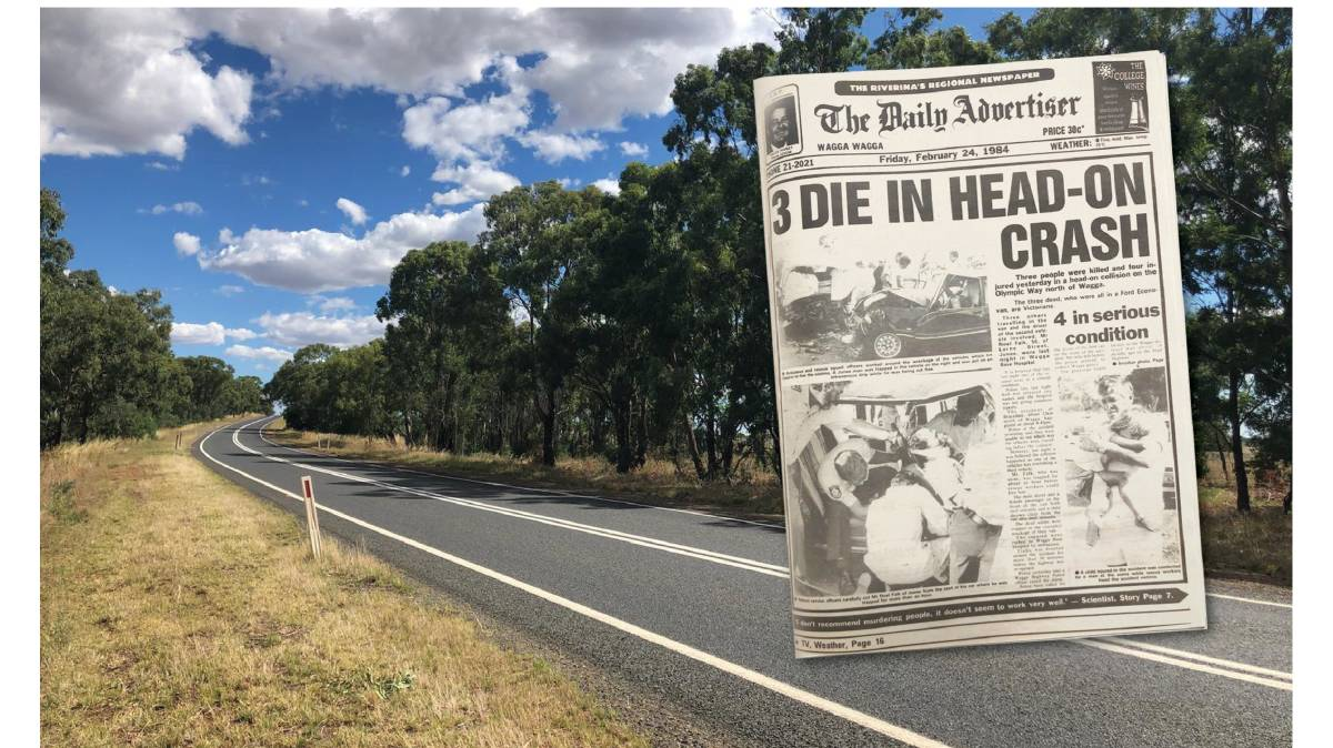The deadly stretch at Brucedale where Michael McCormack reported on the tragic death of four people 36 years ago. Pictures: Supplied
