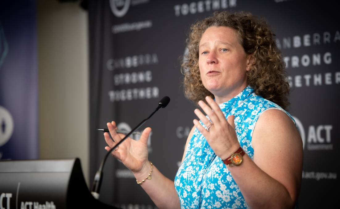 ACT chief health officer Kerryn Coleman announced eased travel restrictions. Picture: Karleen Minney