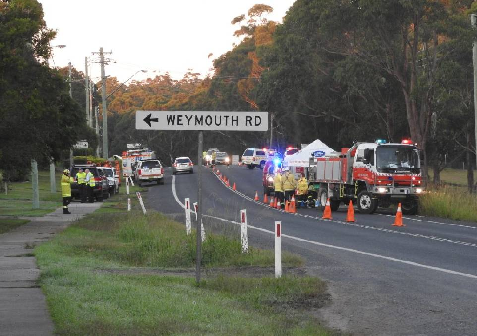 Three people have died in a crash on the Princes Highway this morning. Picture: Dave Cunningham, TNV