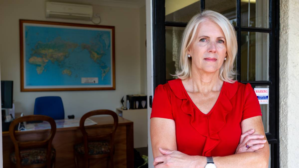Owner of Capital Travel in Manuka, Lisa Calabria, is looking at bleak future for her business when the JobKeeper supplement ends in March. Picture: Elesa Kurtz
