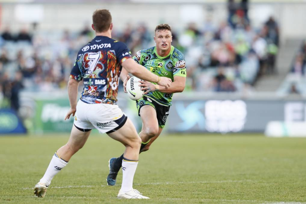 Raiders coach Ricky Stuart has backed Jack Wighton's passion for his culture. Picture: NRL Imagery