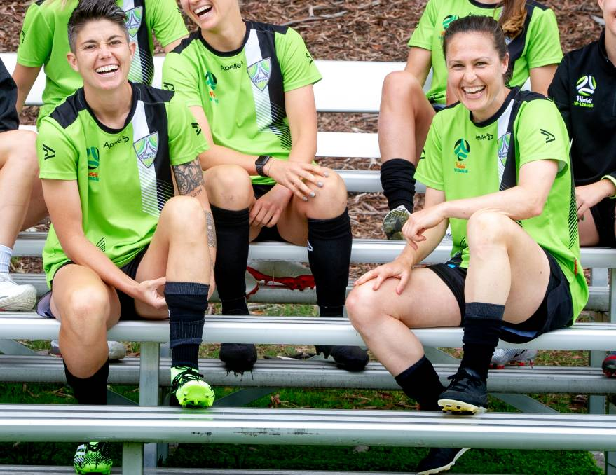 Michelle Heyman and Kendall Fletcher's finals experience is massive for Canberra United. Picture: Elesa Kurtz