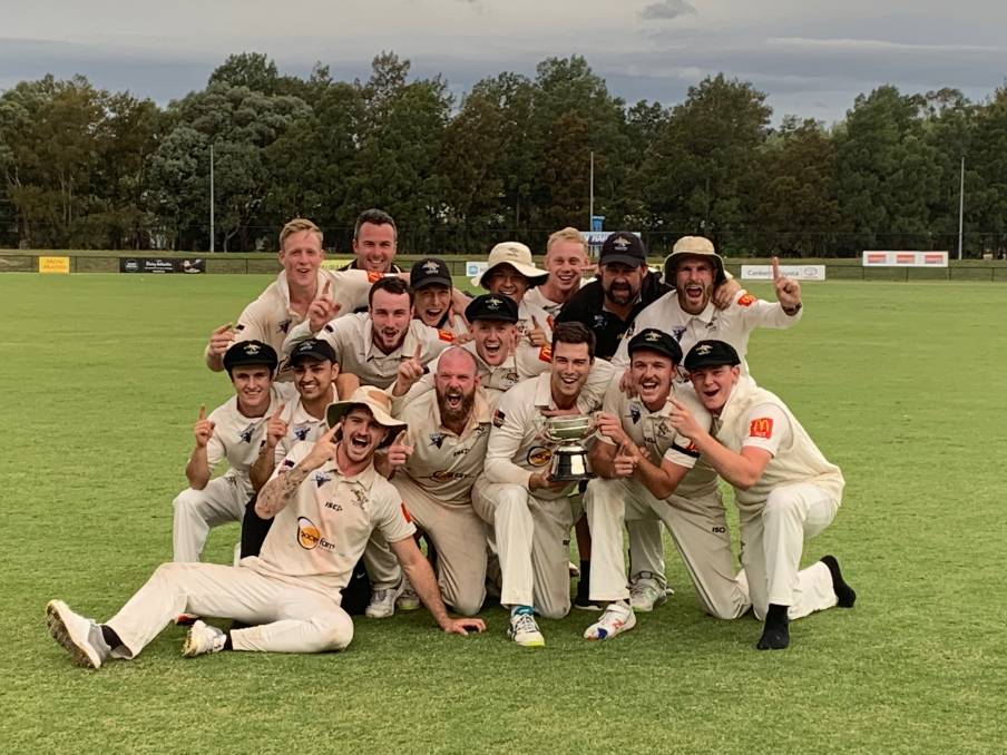 The Ginninderra Tigers have their hands on the Cricket ACT Douglas Cup for the first time in 26 years. Photo: Cricket ACT
