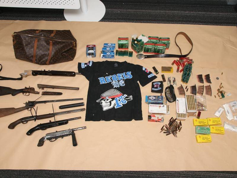 Several items have been seized after police executed a search warrant at a Gold Coast address.