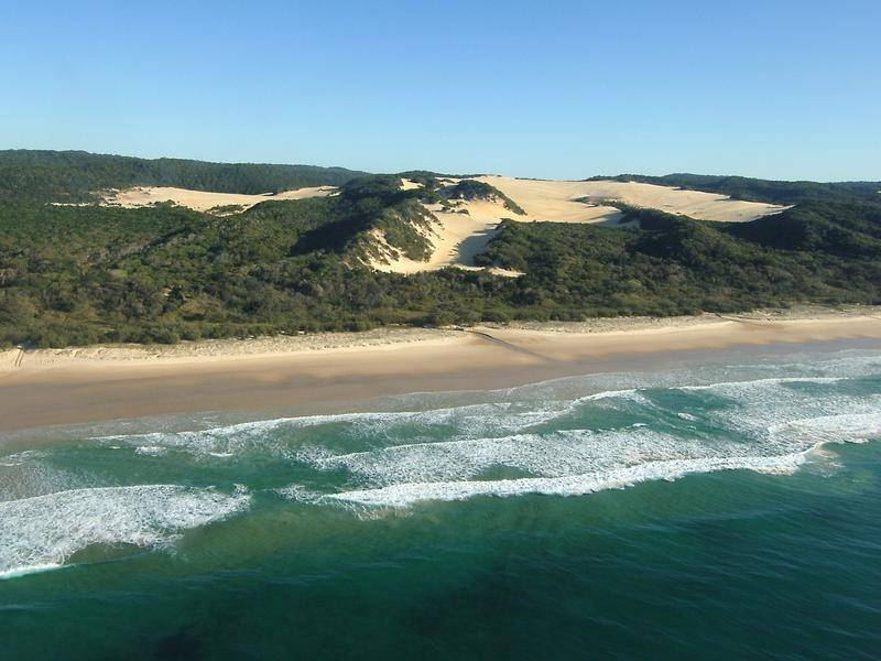 Tourists were evacuated to the southern end of Fraser Island earlier this week.