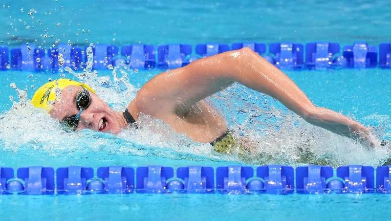 Titmus wins silver medal in 800m freestyle