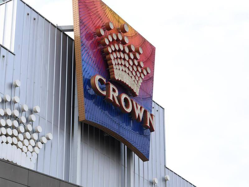 Crown Casino has implemented social distancing on the gaming floor ban banned large gatherings.
