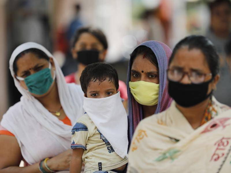 India's coronavirus cases have reached 4.1 million, with 90,632 new cases in the 24 hours to Sunday.