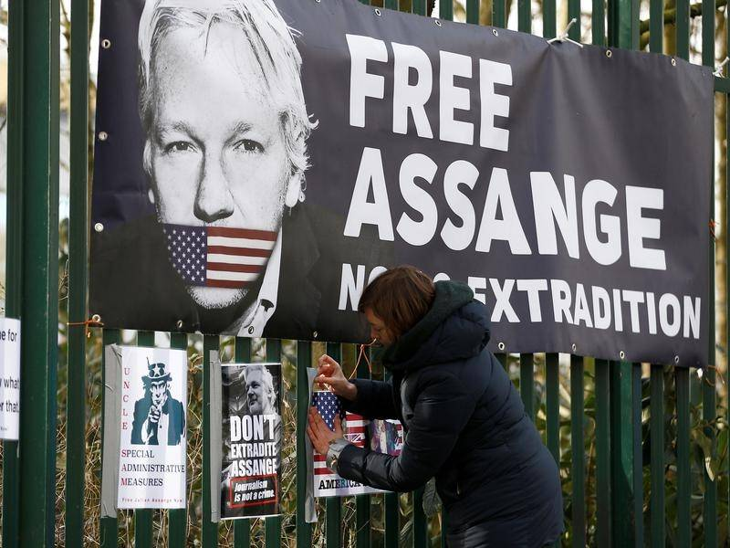 An application for Julian Assange's May 18 extradition hearing to be adjourned has been refused.