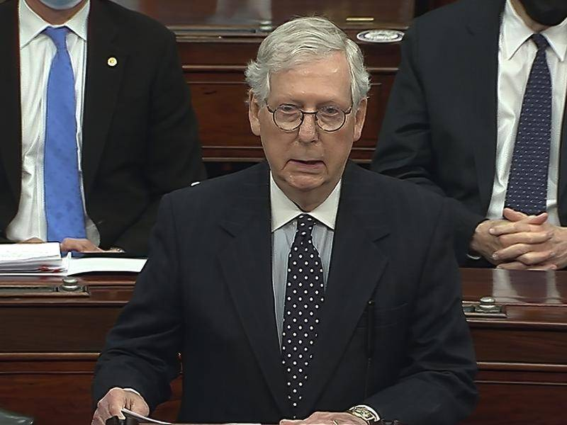 Mitch McConnell says Congress should focus on a safe inauguration and orderly transfer of power.
