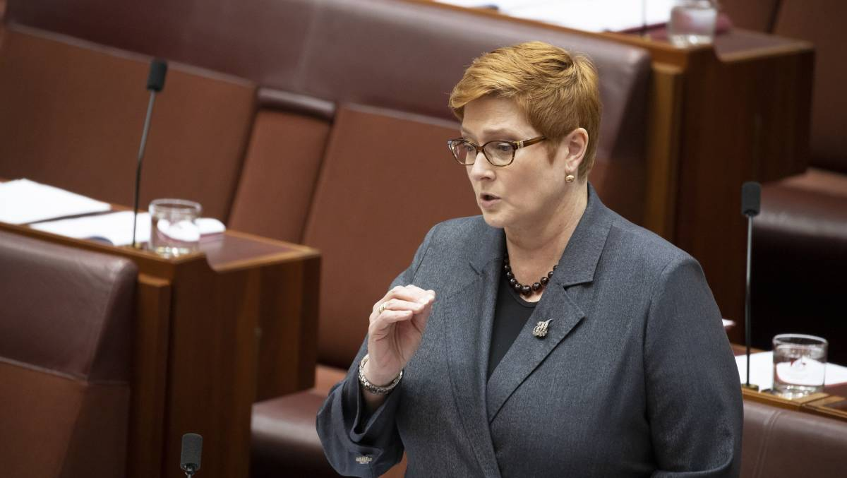 Minister for Women Senator Marise Payne has been nearly invisible during the budget process. Picture: Sitthixay Ditthavong