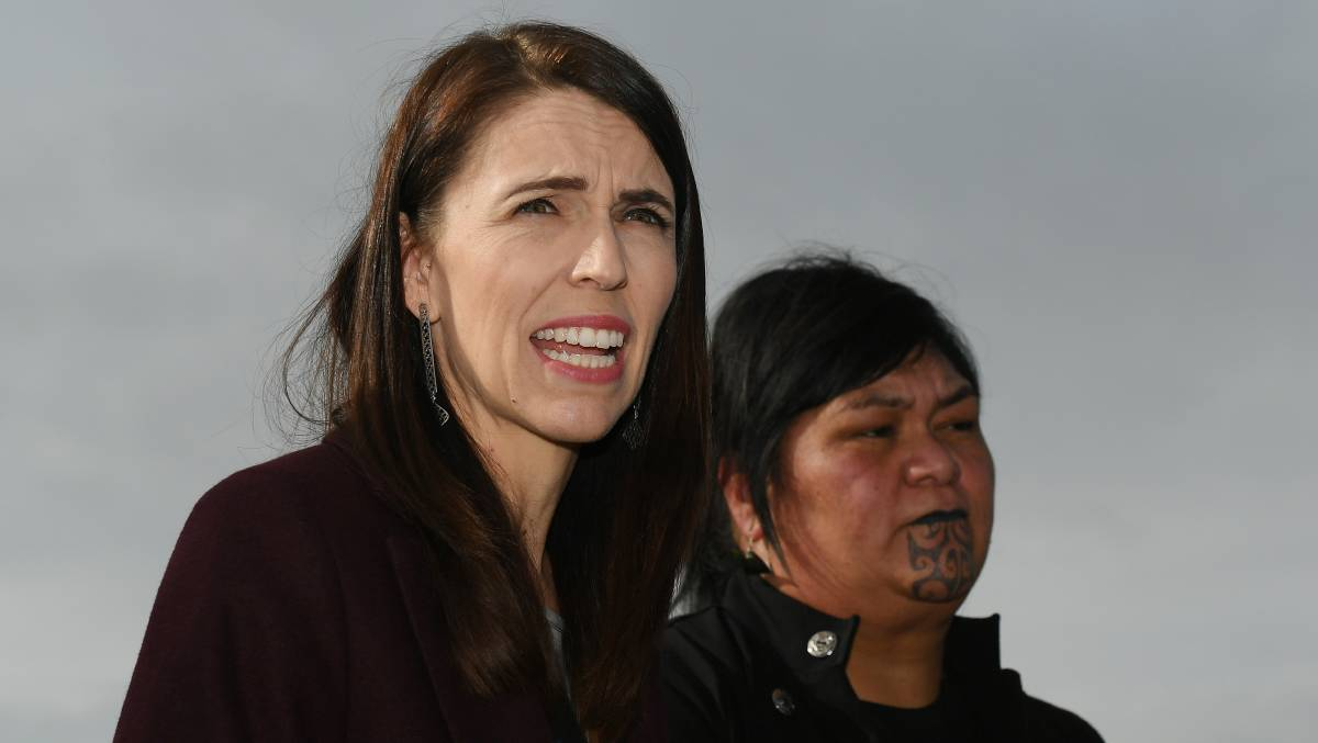 New Zealand Prime Minister Jacinda Ardern with Foreign Minister Nanaia Mahuta. Picture: Getty Images