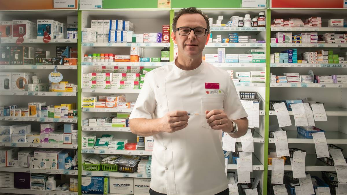 Pharmacist Simon Blacker says chemists could help with the vaccine rollout. Picture: Karleen Minney