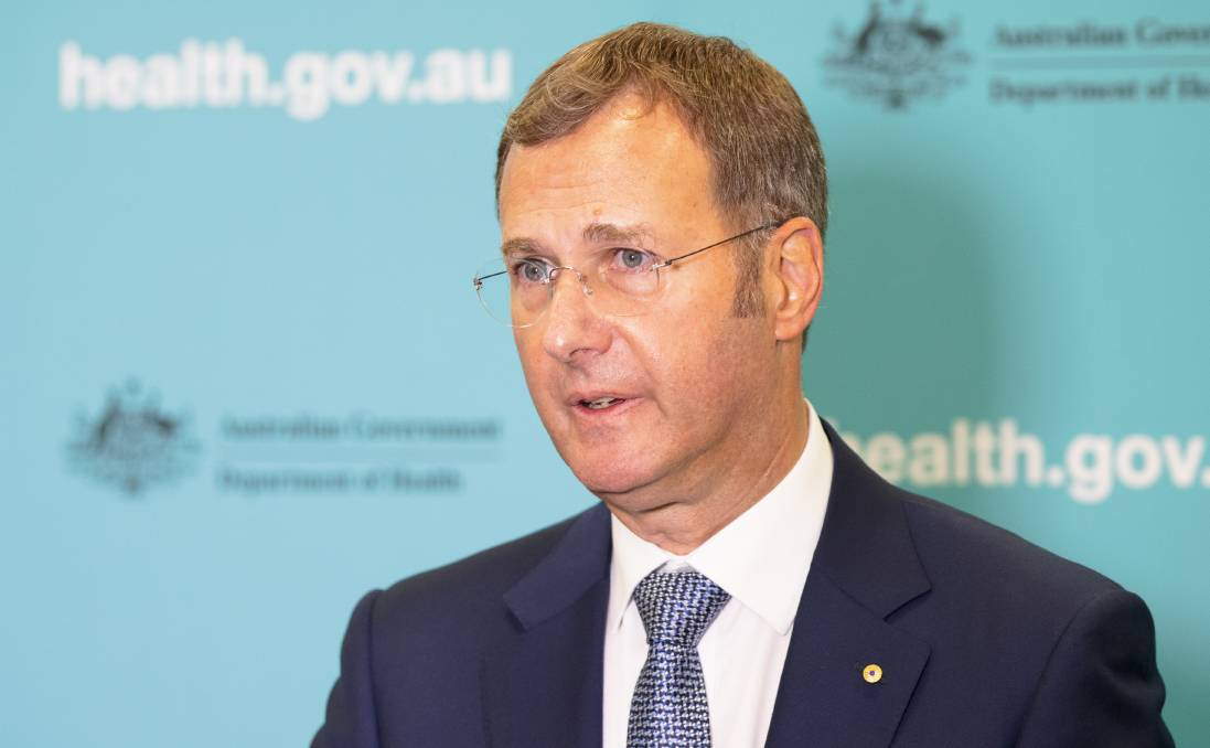 Australia's acting chief medical officer Professor Michael Kidd on Friday.